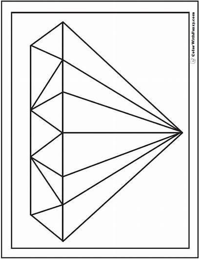 Diamond Coloring Shape Pages Shapes Sheet Template