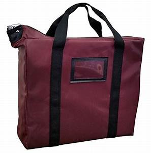 briefcase style locking document bag burgundy With hipaa compliant document bags