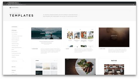 free squarespace templates the state of advanced website builders smashing magazine