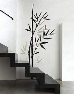 Bambou wall sticker chambre salon pepiniere art vinyle for Bamboo wall art