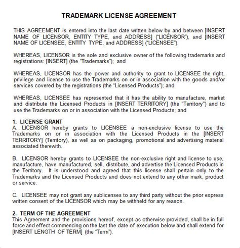 license agreement template 12 license agreement templates for free sle templates