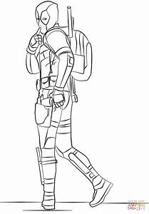 Deadpool 2019 Coloring Page Free Printable Coloring Pages