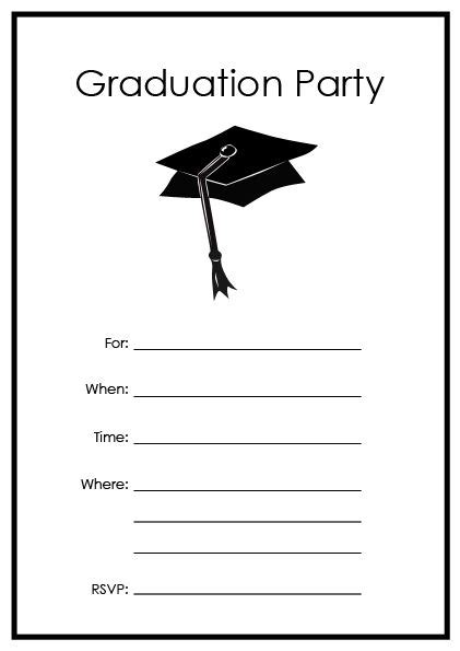 printable graduation party templates printable