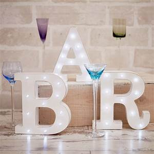distressed white light up letters With white light up letters
