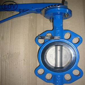 Lever Operated Butterfly Valve Cast Iron Butterfly Wafer