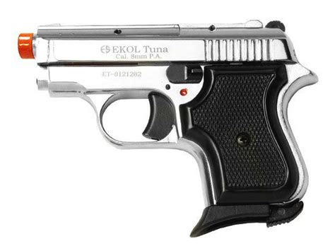 Ekol V950 Tuna Front Firing Chrome Blank Gun