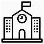 Icon Building Elementary Primary Education Clipart Icons