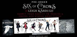 Six Of Crows Poster And Signed Book Plate