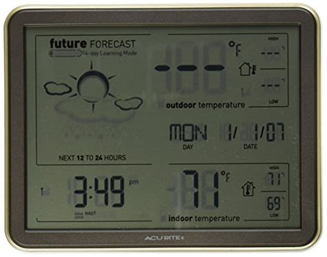 Authentic Acurite 75077 Weather Forecaster With Jumbo