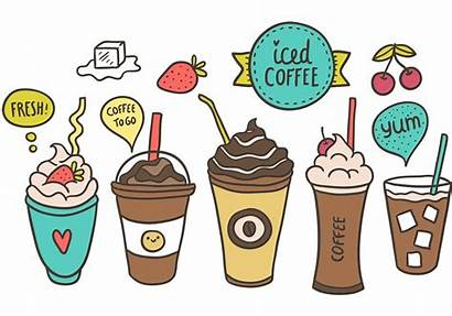 Coffee Iced Vector Drawing Clipart Svg Background