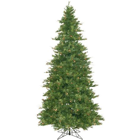 12 foot slim mixed country pine christmas tree unlit