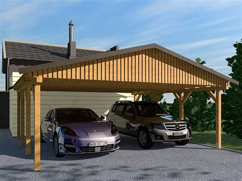 Carport (satteldach) Monza Iii 600x700cm, Bausatz Ebay