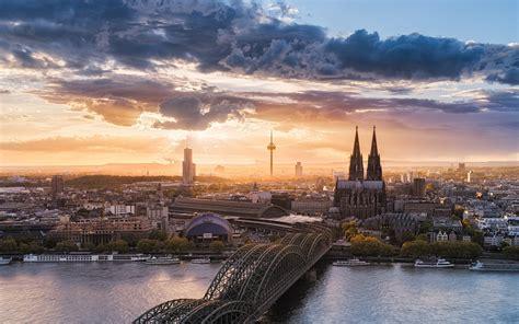 landscape nature cityscape cologne germany sunset