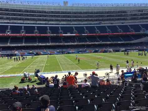 level sideline soldier field football seating rateyourseatscom