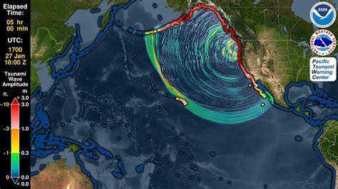 tsunami forecast model animation cascadia  youtube
