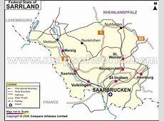 Saarland Map, Map of Saarland Germany