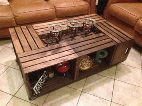 Make the most of a wine obsession by constructing a wine crate coffee table. DIY Wood Crate Coffee Table Free Plans Picture Instructions
