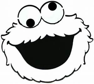 Cookie monster face template | Sesame Street Birthday ...