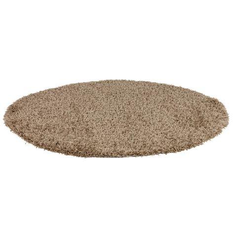 tapis design cava rond 160 cm 192 poils longs brun comparer les prix de tapis design cava rond