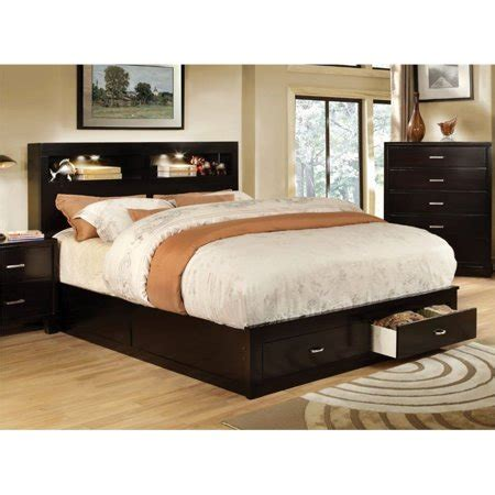King Bookcase Storage Bed by Furniture Of America Louis California King Storage