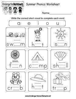 kindergarten summer worksheets keeping kids