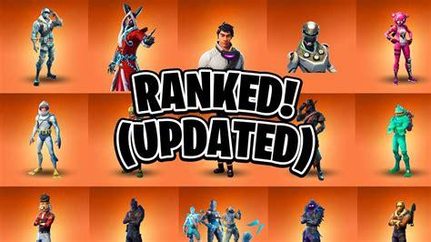 ranking  legendary fortnite skins   video updated