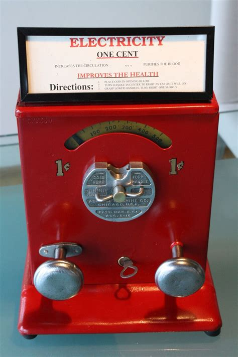 vintage penny arcade machine   Advance Shock Machine Penny