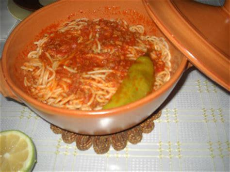 recette de cuisine tunisienne avec photo recette spaghettis à la bolognaise recette tunisienne
