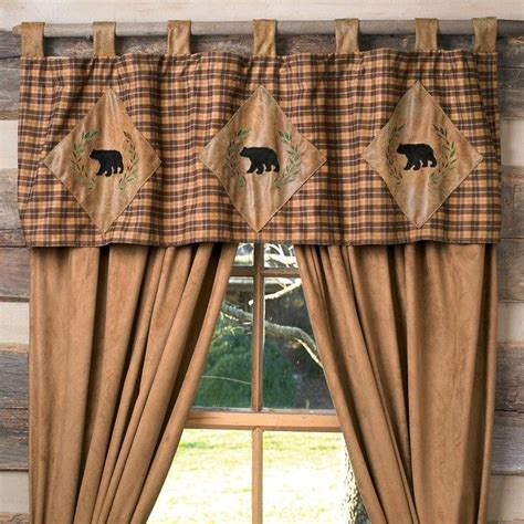 valance window treatments shop   rustic curtains