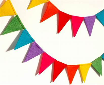 Party Banner Bunting Flag Rainbow Clipart Decorations