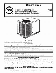 Carrier Pa3z 01 Heat Air Conditioner Manual