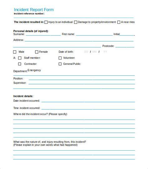 incident report template word 37 incident report templates pdf doc free premium templates