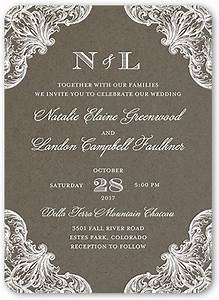 damask wedding invitations shutterfly With wedding invitation by shutterfly
