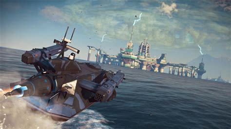 Fast Boat In Just Cause 3 by A Heavily Armed Rocket Boat Will Help Get The Job Done In