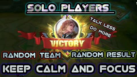 Solo Player Mobile Legends Season 7
