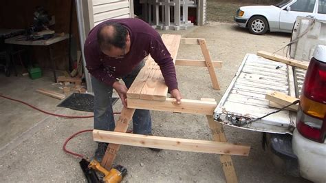 build cheap  wood picnic table  complete guide