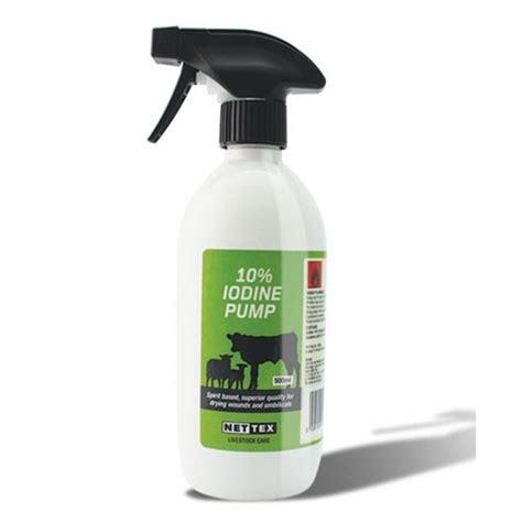 Wynnstay Country Stores  Nettex 10% Iodine Solution 500ml Pump