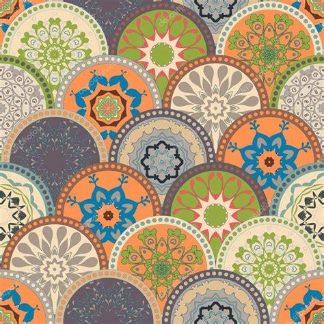 seamless cadre de motif abstrait des cercles de couleur 224