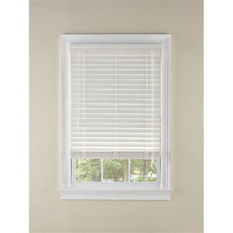 white faux wood blinds shop levolor 2 in white faux wood room darkening