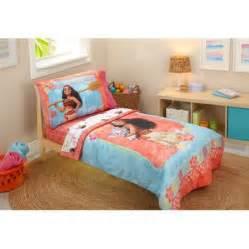 disney moana 4 piece toddler bedding set walmart com
