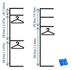 dimensions for half height and full height hanging spaces click through to the website for more