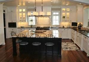 cuisine americaine avec ilot central deco maison moderne With maison avec cuisine americaine