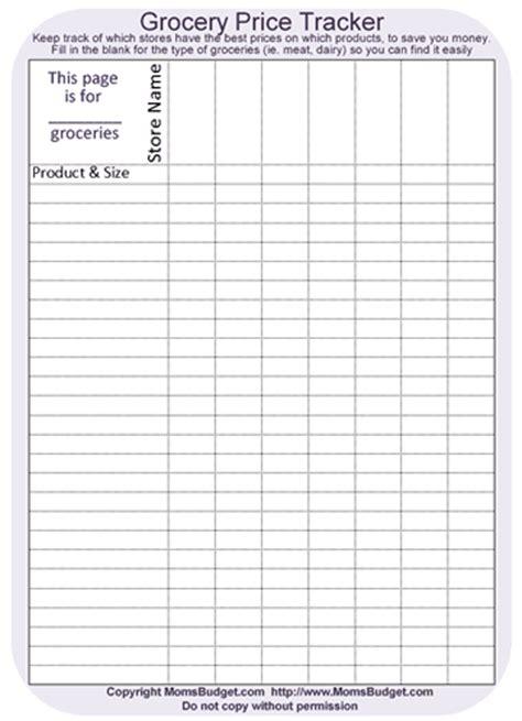 grocery price tracker worksheet printable  worksheet