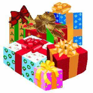 Wrapped Christmas Gifts Clip Art 50