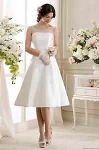 Robe Mi Longue Mariage : robe de mariage mi longue grande taille robe de mariage blanche mi longue co robe blanche pour maria ~ Melissatoandfro.com Idées de Décoration