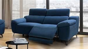 Canape de relaxation electrique design 3 places faro for Tapis jaune avec canapé relax 3 places tissu