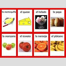 Spanish Food Vocabulary Flashcards By Mr Elementary Tpt