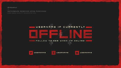 Twitch Banner Template Twitch Offline Banner Templates Offline Screens For Your