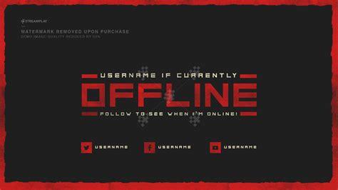 twitch offline banner template size twitch offline banner templates offline screens for your