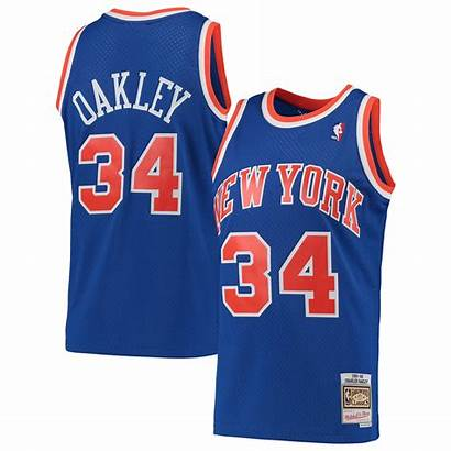 Knicks Oakley York Mitchell Charles Ness Jersey